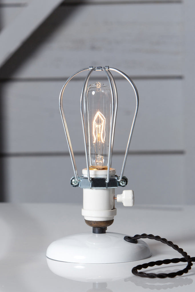 Industrial Desk Light - Wire Cage Table Lamp - Industrial Light Electric - 1