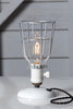 Industrial Wire Cage Desk Lamp - Vintage Style Light - Industrial Light Electric - 2