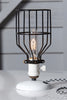 Industrial Desk Lamp - Black Wire Cage Table Light - Industrial Light Electric - 2