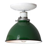 Green Metal Shade Light - Semi Flush Mount Lamp - Industrial Light Electric - 4