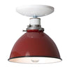 Red Metal Shade Light - Semi Flush Mount Lamp - Industrial Light Electric - 4