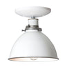 White Metal Shade Light - Semi Flush Mount Lamp - Industrial Light Electric - 4