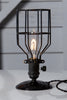 Industrial Desk Lamp - Black Wire Cage Table Light - Industrial Light Electric - 1