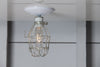 Vintage Metal Cage Light - Ceiling Mount - Industrial Light Electric - 3
