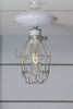 Vintage Metal Cage Light - Ceiling Mount - Industrial Light Electric - 1