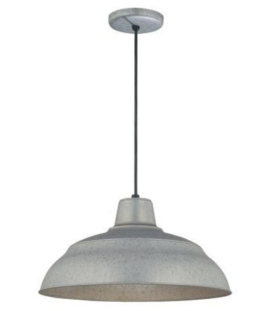 Metal Shade Industrial Pendant - 17in Cord Hung Warehouse Light - Industrial Light Electric - 1