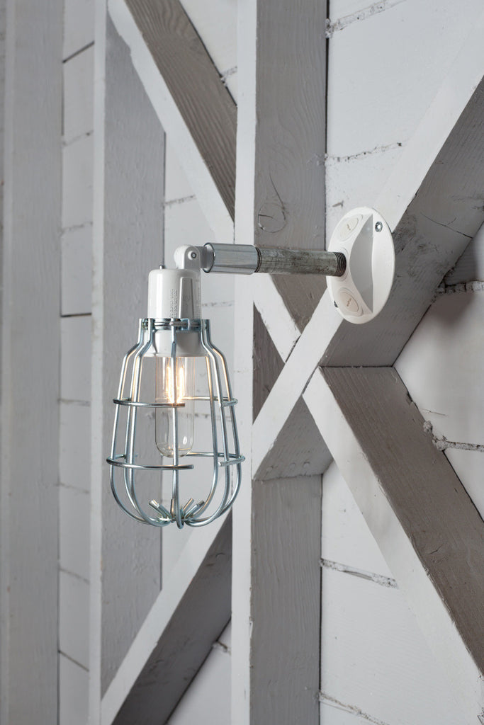 Industrial wall light outdoor wire cage exterior wall sconce lamp industrial light electric