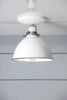 White Metal Shade Light - Semi Flush Mount Lamp - Industrial Light Electric - 1