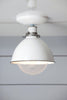 White Metal Shade Light - Semi Flush Mount Lamp - Industrial Light Electric - 2