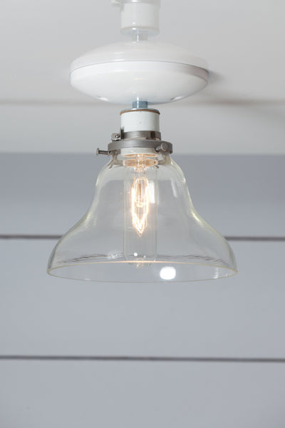 Glass Bell Shade Light - Ceiling Mount - Semi Flush Mount Lamp - Industrial Light Electric - 1
