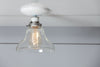 Glass Bell Shade Light - Ceiling Mount - Semi Flush Mount Lamp - Industrial Light Electric - 2