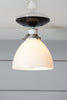 Milk Glass Shade Light - Semi Flush Mount