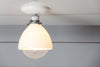 Milk Glass Shade Light - Ceiling Mount lamp - Semi Flush Mount - Industrial Light Electric - 3