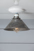 Steel Metal Shade Light - Semi Flush Mount Lamp - Industrial Light Electric - 2