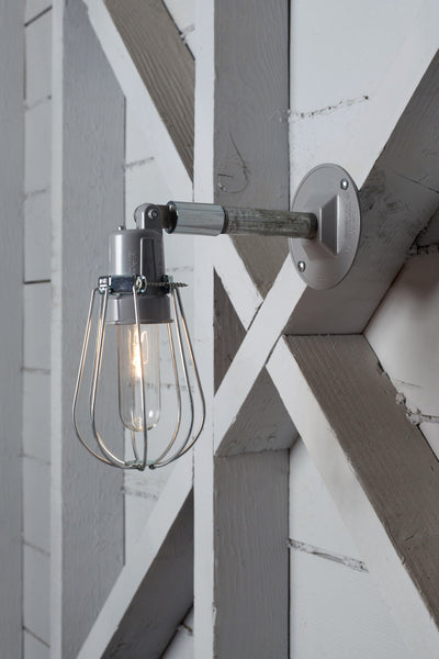 Outdoor Wall Light Exterior Wire Cage Wall Sconce Lamp