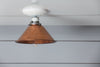 Copper Metal Shade Light - Semi Flush Mount Lamp - Industrial Light Electric - 3