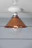Copper Metal Shade Light - Semi Flush Mount Lamp - Industrial Light Electric - 2