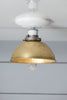 Mid Century Brass Shade Ceiling Light