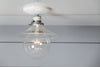 Flat Glass Shade Light - Industrial Ceiling Mount Lamp - Semi Flush Mount - Industrial Light Electric - 4