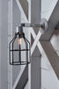 Industrial Wall Light- Outdoor Black Wire Cage Light - Industrial Light Electric - 2
