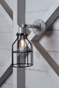 Industrial Wall Light- Outdoor Black Wire Cage Light - Industrial Light Electric - 3