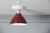 Red Metal Shade Light - Semi Flush Mount Lamp - Industrial Light Electric - 3