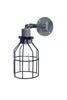 Industrial Wall Light- Outdoor Black Wire Cage Light