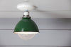 Green Metal Shade Light - Semi Flush Mount Lamp - Industrial Light Electric - 2