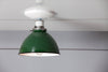 Green Metal Shade Light - Semi Flush Mount Lamp - Industrial Light Electric - 3