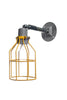 Yellow Cage Light - Exterior Wall Mount Sconce - Industrial Light Electric - 4