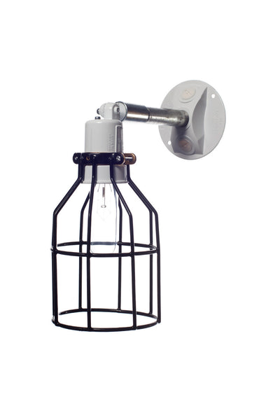 Industrial Wall Light Outdoor Black Wire Cage Light