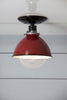 Red Metal Shade Light - Semi Flush Mount Lamp - Industrial Light Electric - 2