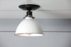 White Metal Shade Light - Semi Flush Mount Lamp - Industrial Light Electric - 3