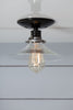 Flat Glass Shade Light - Industrial Ceiling Mount Lamp - Semi Flush Mount - Industrial Light Electric - 3