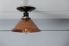 Copper Metal Shade Light - Semi Flush Mount Lamp - Industrial Light Electric - 4