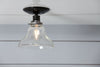 Glass Bell Shade Light - Ceiling Mount - Semi Flush Mount Lamp - Industrial Light Electric - 3