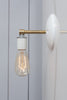 Brass Wall Sconce - Bare Bulb Light