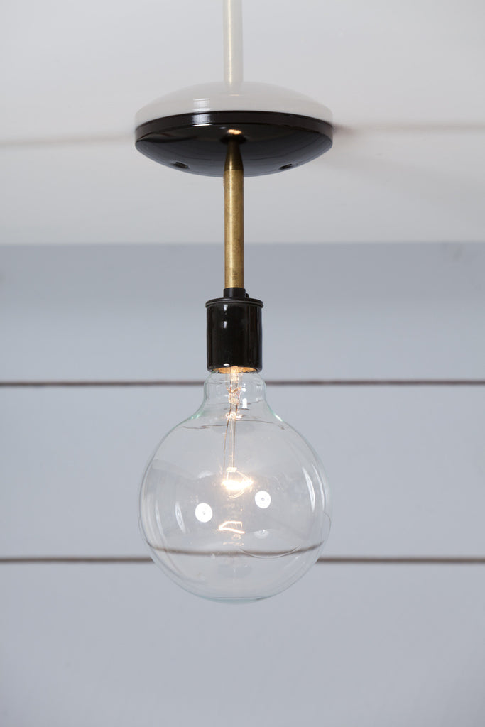 Brass Steel Semi Flush Mount Ceiling Light Industrial Light Electric Hand Crafted Lighting