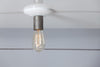 Metal and White Industrial Bare Bulb Ceiling Light