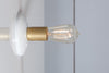 Brass and White Mid Century Wall Sconce Light