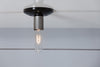 Metal and Black Industrial Ceiling Light