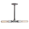 Pendant Pipe Light - Double Bare Bulb Lamp - Industrial Light Electric - 5