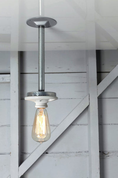 Pendant Pipe Light - Bare Bulb Lamp - Schoolhouse - Industrial Light Electric - 1