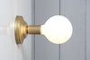 Brass and Glass Wall Sconce - Bare Bulb Light