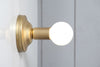 Brass and Milk Glass Wall Sconce Light