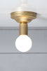 Brass and Milk Glass Mid Century Ceiling Light