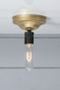 Brass and Black Mid Century Bare Bulb Ceiling Light