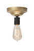 Brass Ceiling Light - Bare Bulb - Industrial Light Electric - 7