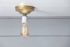 Brass Ceiling Light - Bare Bulb - Industrial Light Electric - 9