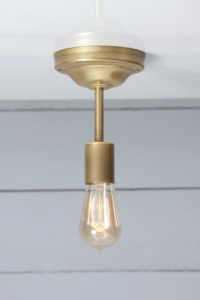 Vintage Brass Ceiling Light - Semi Flush Mount